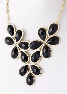 Raindrops Necklace - Black