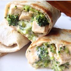 Cheezy Chicken Broccoli Pockets  PREP TIME: 15 min COOK TIME: 30 min TOTAL TIME: 45 min  Ingredients: 2 c skim milk 2 oz cream cheese cut into 1/2 in cubes ( i use 1/3 less fat cream cheese) 1 t dijon mustard 1-2 cloves of garlic minced 1 1/2 c shredded cheddar salt and pepper to taste 5 chicken breast cooked and diced ( 4 c. chopped chicken) 1 large head of broccoli cut the florets into small pieces ( 4 c. chopped) 14 flour tortillas ( or whole wheat tortilla) Directions: Preheat oven to…