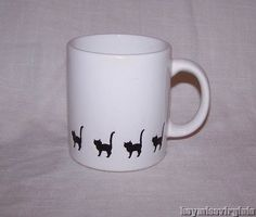 Cat coffee mug Cat Coffee Mug, Cat Mug, Coffee Cups, Bistros, Cat Treats, Pottery Mugs, Kitty Kitty, Chihuahuas, Mug Cup