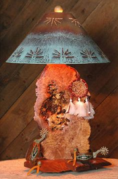 Southwestern Table Lamp with Shade