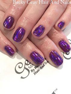 #gelii #manicure plum perfection #nailart #gel_two #nailfoil #showscratch #scratchmagazine #scratchstarawards #gelnail