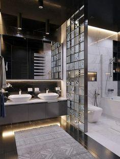 Bathroom decor for the master bathroom remodel. Learn master bathroom organization, master bathroom decor some ideas, bathroom tile tips, master bathroom paint colors, and much more. Bad Inspiration, Bathroom Inspiration, Dream Bathrooms, Small Bathroom, Master Bathroom, Master Baths, Bathroom Ideas, Minimal Bathroom, Boho Bathroom