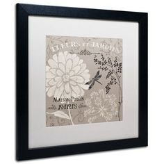 Trademark Art 'French Linen Garden II' by Daphne Brissonnet Framed Graphic Art