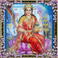 Lakshmi, Hindu Goddess of Abundance (female form of Krishna)