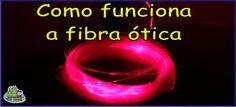 Disso Voce Sabia?: Como funciona a fibra ótica
