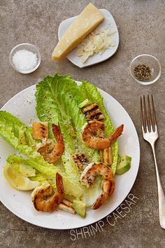 Grilled Shrimp Caesar Salad is made light and flavorful with the addition of two kinds of citrus, and marinated grilled shrimp.