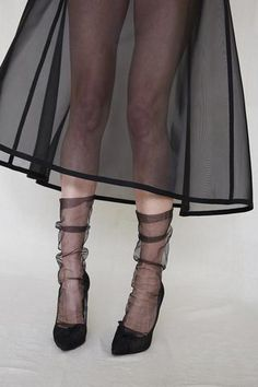 Black - superfine tulle sock - ON BACK ORDER