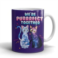 Level up your coffee experience with this Sailor Moon Luna & Artemis We're Perfect Together Mug!