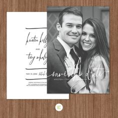 Handwritten Photo SaveTheDate Wedding Invitation  by NCCreative, $30.00