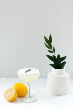 Meyer Lemon + Sage Sour cocktail recipe