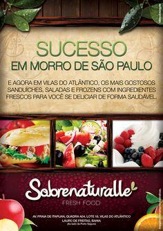 Panfleto criado para o restaurante Sobrenaturalle.  *Marca Sobrenaturalle criado por Tdsko & Kvalcante.  **Peça produzida na empresa Tdsko & Kvalcante.