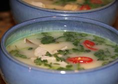 A delicious Thai recipe  Tom Yum Soup - had some for lunch - it certainly is YUM -- and spicy!
