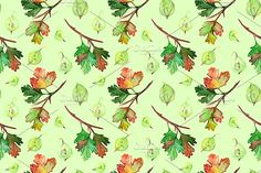 Gooseberry berry seamless pattern by Art By Silmairel on @creativemarket