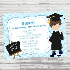 Save money with these free printable graduation invitations preschoolkindergarten boy graduation by sandinmyshoesdesigns filmwisefo