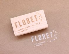personalized rubber stamp (great for business logo)