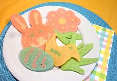 Easter Pancakes - Bunnies Chicks and Flowers - for the Kids Holiday Themes, Holiday Crafts, Holiday Fun, Holiday Ideas, Easter Breakfast Recipes, Easter Recipes, Breakfast Ideas, Easter Cookies, Easter Treats