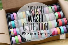 washi tape giveaway! click here to enter: http://www.craftaholicsanonymous.net/instant-washi-tape-collection-giveaway-72-rolls