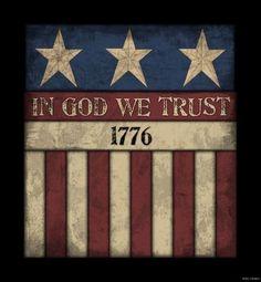 America IN GOD WE Trust Wood Sign Primitive Rustic Americana Country Home Decor | eBay #handmadehomedecor