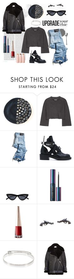 """New York State of Mind"" by createdbyfortune ❤ liked on Polyvore featuring Oris, Yeezy by Kanye West, R13, Balenciaga, Puma, Eddie Borgo, Acne Studios, beret, grommets and berets"