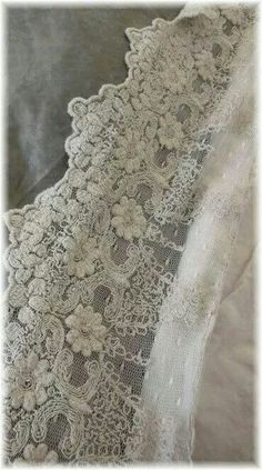 Gorgeous ♥ I think when i pinned this, it mentioned something about a vintage lace?