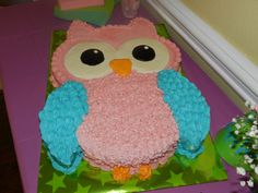 Birthday Cake Girls Kids Owl 54 Ideas For 2019 Birthday Cakes Girls Kids, Owl Cake Birthday, Owl Birthday Parties, Cool Birthday Cakes, 2nd Birthday, Cake Kids, Birthday Ideas, Owl Cakes, Ladybug Cakes