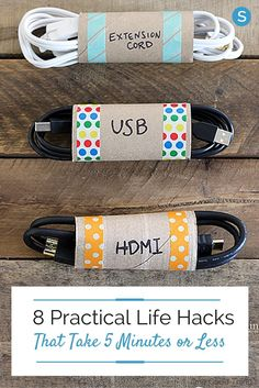 Easy and simple life hacks to make cleaning and organizing around your home a lot easier: http://simplemost.com/8-practical-life-hacks-take-5-minutes-less?utm_campaign=social-account&utm_source=pinterest.com&utm_medium=organic&utm_content=pin-description