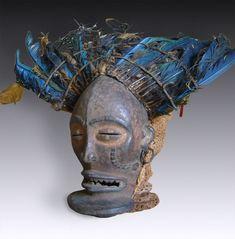 Tanzmaske cihongo  Tschokwe, Chokwe / Angola, D. R. Kongo