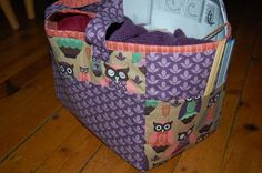 Knitting bag, with room for all you need