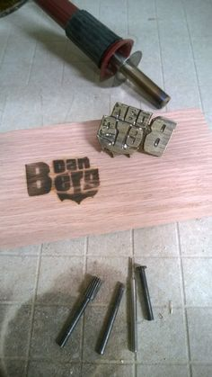 How to easily make a custom Logo Branding Iron that mounts to a wood burning tool. Free step by step instructions. www.DIYeasycrafts.com