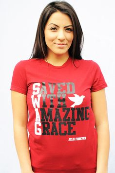 FLASH SALE $10.00 WOMEN-SHIRT-SWAG-MAROON by JCLU Forever Christian t-shirts