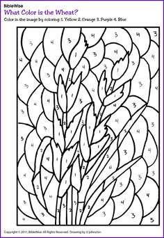 Read the Parable of the Tares and Wheat and Complete this fun Color by Number - Kids Korner - BibleWise