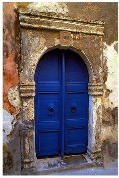 Christopher Knight Collection - The Blue Door Canvas Art, 36 x 54 Cool Doors, Unique Doors, Door Knockers, Door Knobs, Portal, Porches, When One Door Closes, Grades, Blue Aesthetic