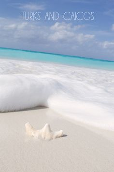 White sand and turquoise water.
