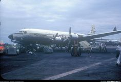 1954 - Pan Am Douglas DC-6B N6531C in Leopoldville, Congo.