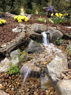 Small Pondless Waterfall Design Ideas, Pictures, Remodel, And Decor