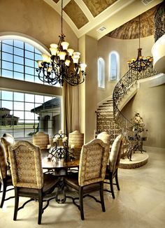 """The """"Padova"""" Dining Room from our """"Ultimate European Home Plans"""" book. #houseplans"""