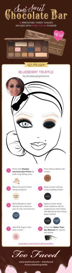 Get @makeupbysharona's Too Faced Semi-Sweet Chocolate Bar look! (youtube.com/toofacedcosmetics)