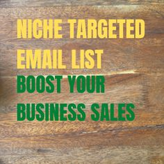 Hello there,💟💟💟 Do you need niche targeted email list to boost your business sales?🤔🤔🤔🤔 😎😎😎😎 Yes, I am here an Expert Email Marketer. 😎😎😎 I can give you the niche targeted email list which can help you to boost your business sales. 🎗️🎗️🎗️🎗️💌 🚩🚩🚩🚩Visit my service here :🏐🏐🏐 fiverr.com/share/8xw4G4 #emails #emailmarketing #email #emailtemplate #emailmarketingstrategy #emailwriting #emailmarketingtips #emailmanagement #emailmarketingcampaigns #emailcampaign #nichememes Email Marketing Strategy, Online Marketing, Digital Marketing, Business Sales, Email Campaign, Email List, Seo, Youtube, Youtubers
