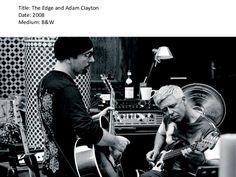 Title: The Edge and Adam Clayton<br />Date: 2008<br />Medium: B&W <br />