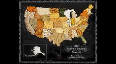 旅と食べ物をこよなく愛するふたり組のアーティスト、Caitlin LevinとHenry Hargraves。彼らが作り上げた世界地図は、その国の特産品や有名な食べ物でいっぱい!おなじみのものから、ちょっと意外なものまで、色とりどりの「おいしい世界地図」を召し上がれ。トウモロコシの栽培は、北米大陸からはじまりました。アメリカの乾燥した気候によく合った穀物で、紀元前5,000年から主要な農作物...