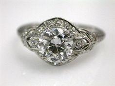 68690-Diamonds/Estate Diamond Ring Cynthia Findlay Antiques CFA1208100