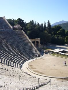 EPIDAURUS, Greece: This shrine of Asklepios, the god of medicine, developed out of a much earlier faith in Apollo as the official faith of the city state of Epidaurus. Its principal monuments, particularly the temples & the Theatre - considered one of the purest masterpieces of Greek architecture – date from the 4th century BC. The vast site, with its baths, dormitories, gymnasium, stadium, temples and hospital buildings, provides valuable insight into the era's healing practices.