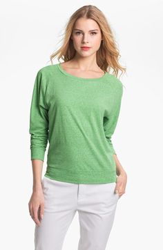 Caslon Three Quarter Sleeve Tee available at Nordstrom