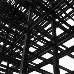 MARCEL GAUTHEROT. Detail of the metal structure of the ministries, Brasília, DF. Brazilcirca 1958.