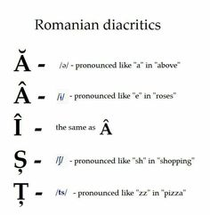 Diacritics. Languages Online, Foreign Languages, Learn Languages, Romanian Language, Uni Life, Learn Something New Everyday, Second Language, Study Motivation, Teaching