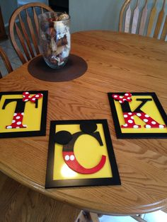 Mickey Mouse décor...Maybe use as take home gifts for Tristan's bday if I make one for each kid?