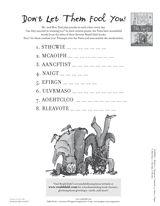 Unscramble these titles of Roald Dahl books. http://www.teachervision.fen.com/puzzles/printable/67291.html #RoaldDahl