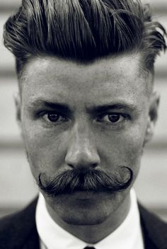 Fashion: During the 1920s hair was a big deal for men. Mustaches were the style during this time period. I would love to grow a stach like that some day just because i can. @Tara Corless haha!