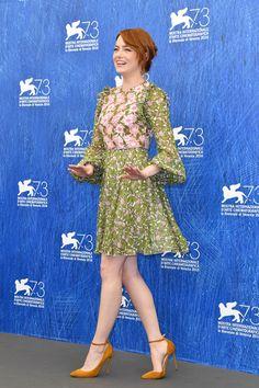 Emma Stone, en la presentación de la película para la prensa. - Todos los looks…