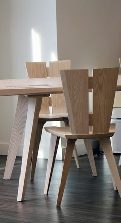 incredible dining room tables calgary. Delighful Room The Copeland Solid Ash Dining Set Has The Most Amazing Angles Vermont  Local Solid Wood Design Modern Intended Incredible Dining Room Tables Calgary G